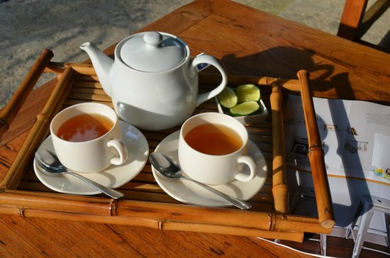Taman Rahasia Tropical Sanctuary & Spa: Tea delivered each morning to our room
