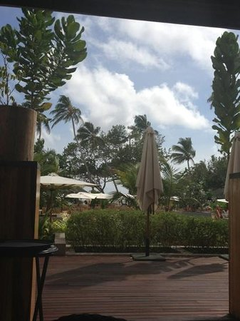 Kempinski Seychelles Resort: view from cafe lazare