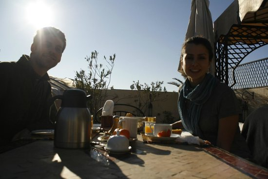 Riad Irene : Having breakfast