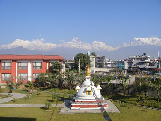 Pokhara Grande: Annapurna View from my room