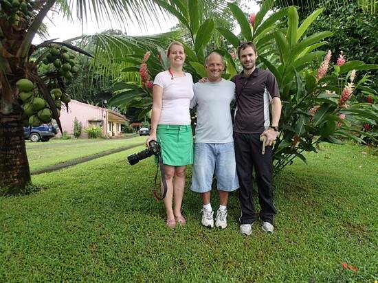 Hotel Lavas del Arenal: From the left: Sofia, Mario and Gustaf