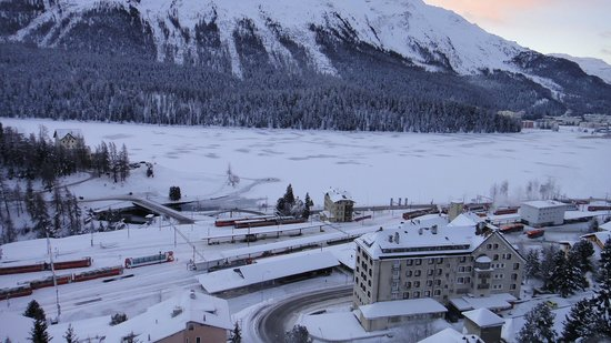 Carlton Hotel St. Moritz: The view in our room