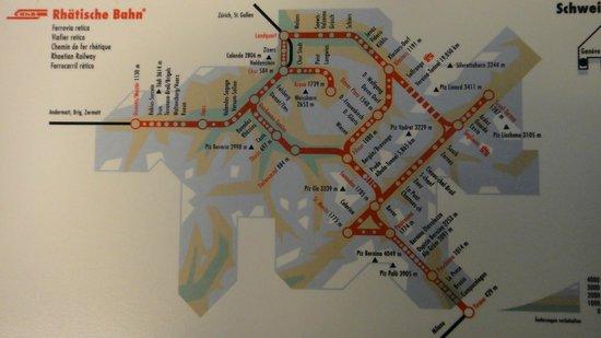 Piz Bernina: journey route