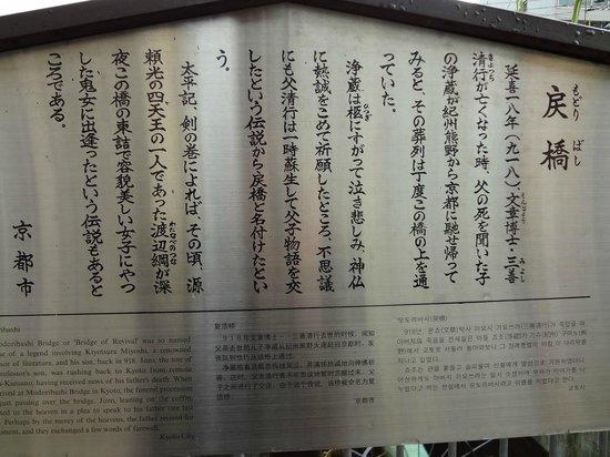 Ichijo Modoribashi: 看板です。