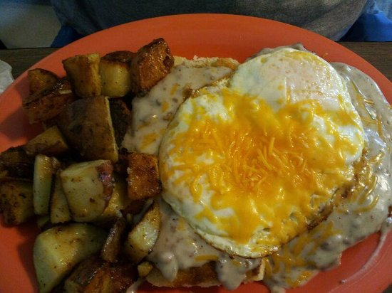 The Spot Cafe: Sausage and Gravy eggs over med