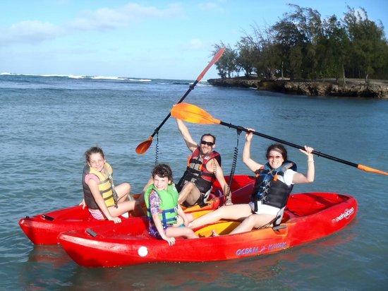 Shaka Kayaks: Eco kayak tour with kids.