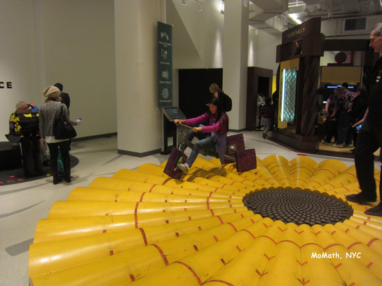 National Museum of Mathematics: MoMath smooth ride on square wheels