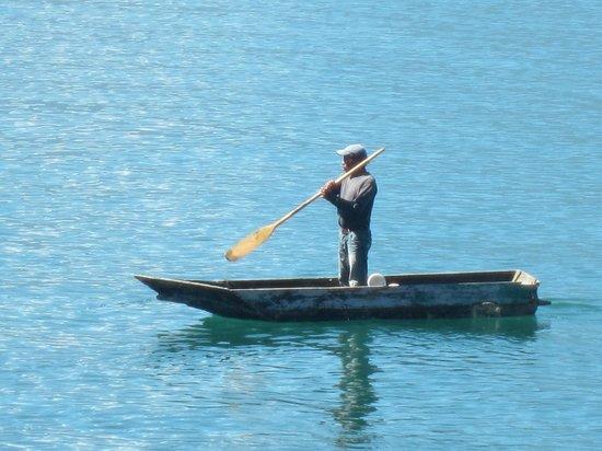 Hotel La Riviera de Atitlan: one of the locals on the water