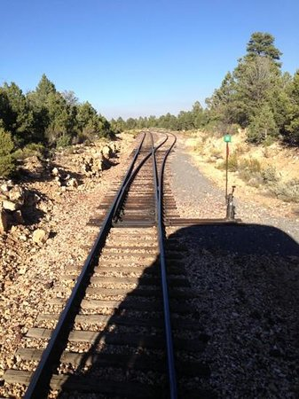 Grand Canyon Railway Hotel: on the train to Williams