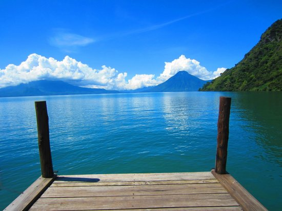 Hotel La Riviera de Atitlan: view from the dock