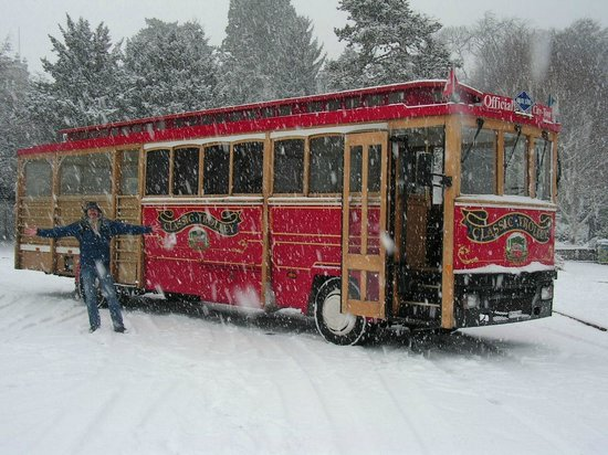 Zurichs trolley tour - departs 2 mins from Hotel Montana