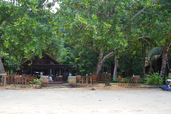 The Tubkaak Krabi Boutique Resort: View of hotel from the beach