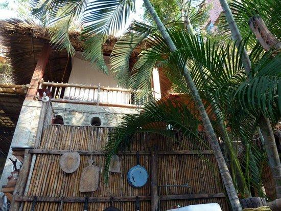 Casa de las Piedras : Looking up at Casa Bambu bedroom