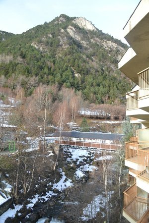 St Gothard Hotel: View of mountain from room