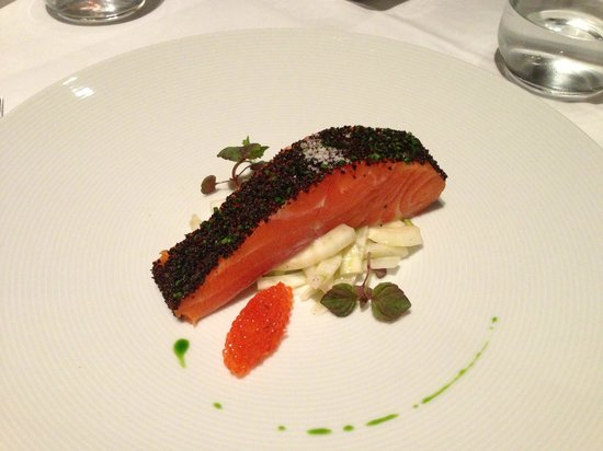 Tetsuya's: Confit of Petuna Ocean Trout with Fennel (Ocean Trout Caviar)
