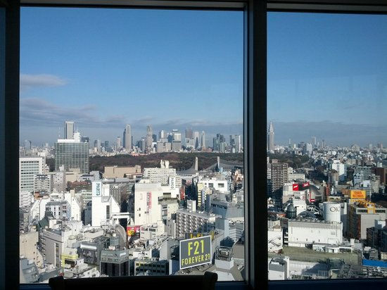 "Shibuya Excel Hotel Tokyu: View of ""downtown"" Tokyo from the Japanese style restaurant 25th FL"