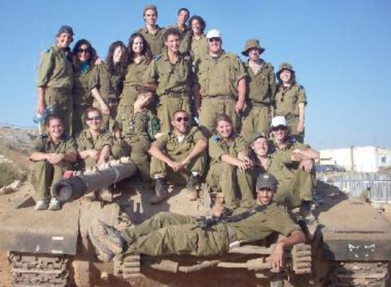 Volunteers with the IDF