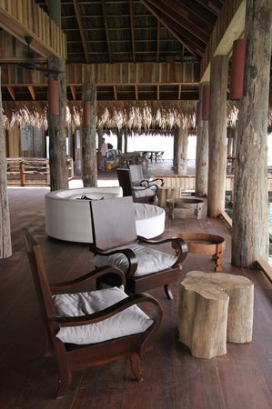 Song Saa Private Island: Main Deck/Dining & Breakfast building (on stilts)