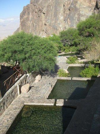 Termas de Fiambala: Vista de piletas desde arriba