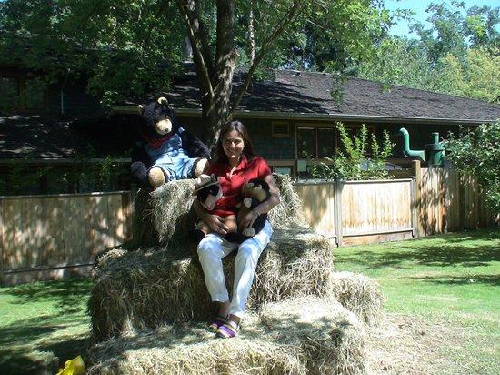 Burnaby Village Museum: Con estos osos si me atrevo a posar.