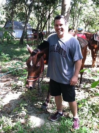Sunrise Ranch: me and my new pal Johnny.