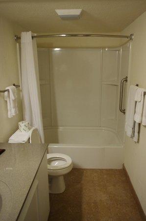 Route 66 Hotel And Conference Center: Salle de bain avec baignoire