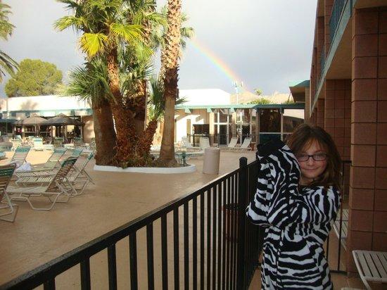Desert Hot Springs Spa Hotel : Rainbow over DHS