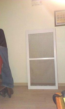 Hotel 'T Bosje : Ein Fensterteil hinter die Türe !!!!!!