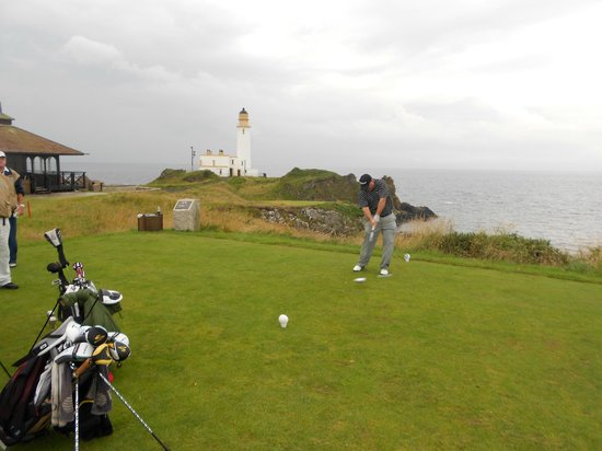 Turnberry Resort Golf Courses: 10th tee at Turnberry - Lighthouse in background