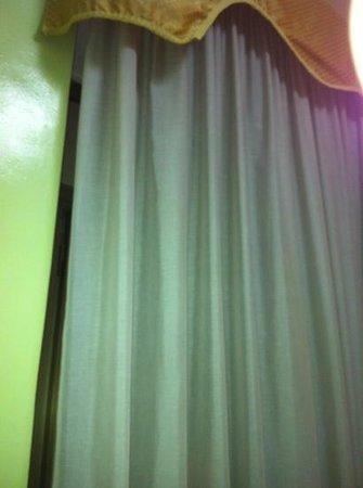 Hotel Ginevra: tende grigie che non vedono un lavaggio da anni