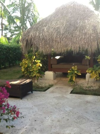 The Reserve at Paradisus Palma Real: private garden behind our master suite