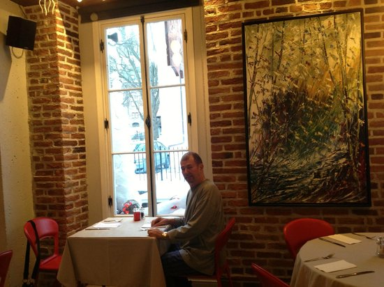 Auberge Place D'Armes: Breakfast in Hotel Restaurant