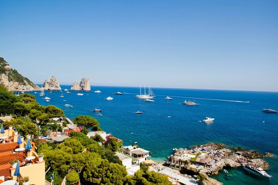 Hotel Weber Ambassador Capri : View from the rooftop