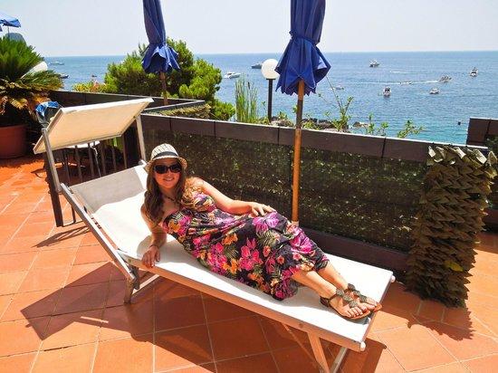 Hotel Weber Ambassador Capri: View from our terrace