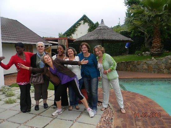 Mizizi House of Sandton Bed & Breakfast : Nossa despedida da equipe de trabalho sul-africana