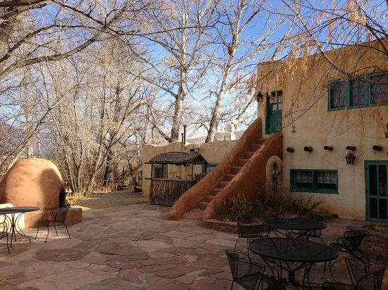 Mabel Dodge Luhan House: A patio near the dining room.