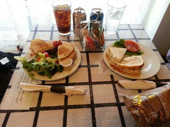 Gourmet Shop Cafe: bakery lunch- turkey goat cheese panini