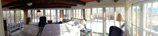 Mabel Dodge Luhan House: A panoramic view of the Solarium on the 3rd floor.