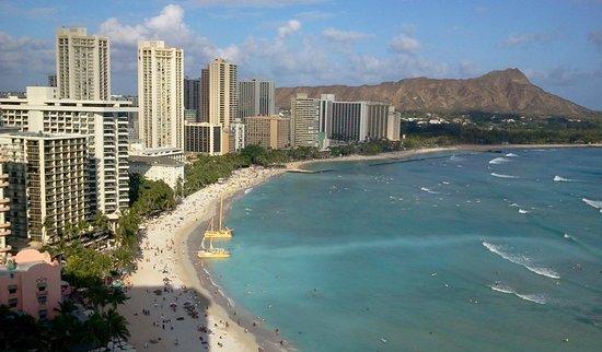 Sheraton Waikiki: JTB専用ラウンジからの眺め。