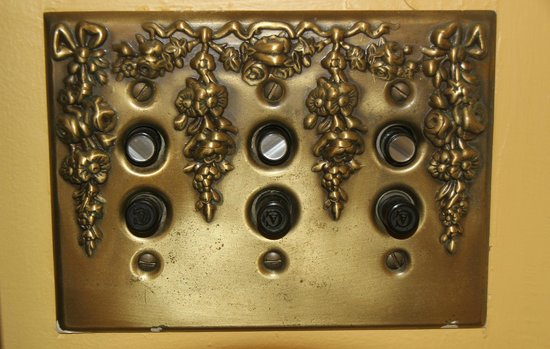 Under The Eaves: Vintage Light Switch - Room #5