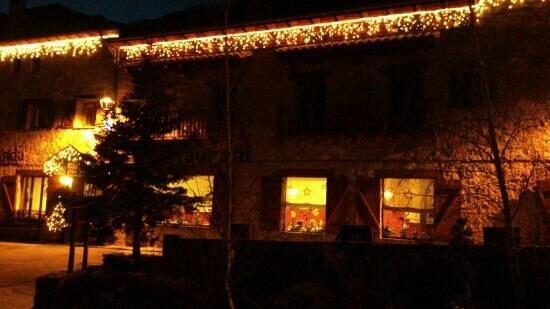 Can Tiranda: fachada navidades