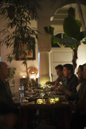 Riad Dollar Des Sables : Evening Dinner at the riad prepared by Mouna