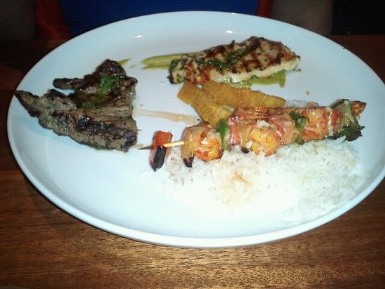 America's: Shrimp and Churrasco Steak