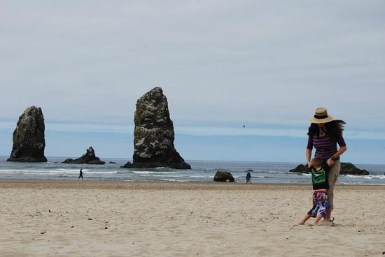 China Beach Retreat : Haystack Rock at Canon Beach, OR (A great day trip - 90 min drive)