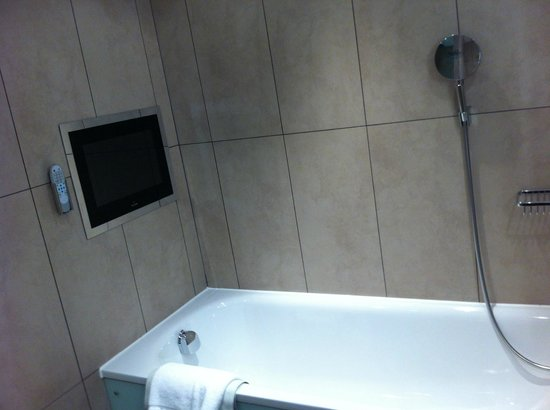 Norton House Hotel & Spa Edinburgh: tv in bathroom
