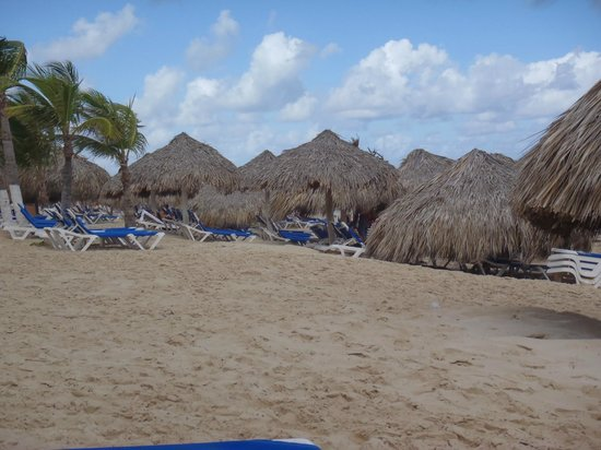 Hard Rock Hotel & Casino Punta Cana: Lots of shady areas on beach