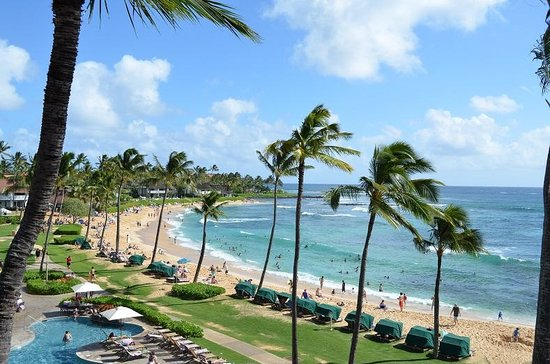 Sheraton Kauai Resort: gorgeous beach views