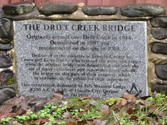 Drift Creek Covered Bridge: The history