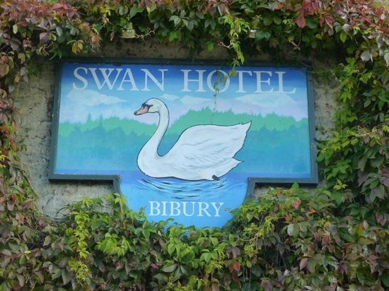 The Swan Hotel: Hotel sign