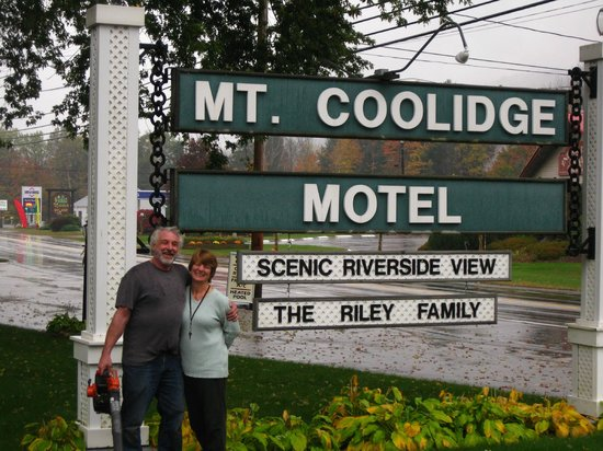 Vicki & Keith Riley from the wonderful Mt. Coolidge Motel, Lincoln, NH